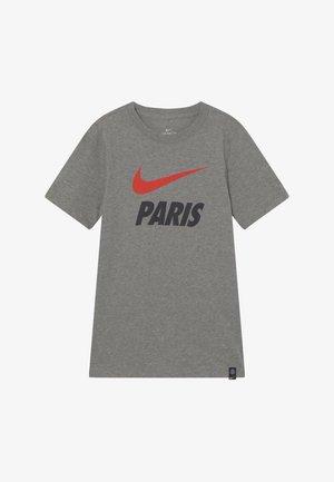 PARIS ST GERMAIN TEE GROUND - Klubové oblečení - grey heather