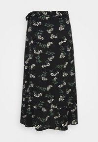 Vero Moda Curve - VMSAGA WRAP ANKLE SKIRT - A-line skirt - black/nellie - 1