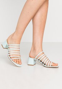 Lost Ink - MULTI STRAP MULE  - Heeled mules - mint - 0