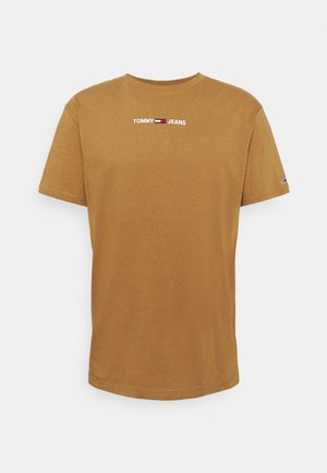 SMALL TEXT TEE - T-shirt basic - desert khaki