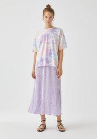PULL&BEAR - A-snit nederdel/ A-formede nederdele - purple - 1