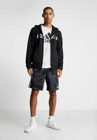 adidas Performance - CAMO LIN - Sweatjacke - black/white/grey one - 1