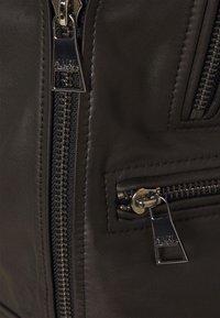 KARL LAGERFELD - IKONIK  BIKER JACKET - Leather jacket - black - 7