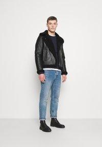Tommy Hilfiger - BIKER JACKET - Leather jacket - black - 1