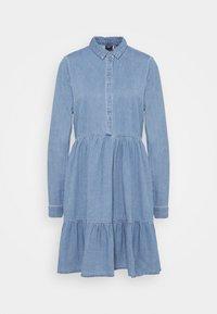 Vero Moda Tall - VMMARIA FRILL DRESS - Denimové šaty - light blue denim - 4