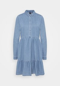 VMMARIA FRILL DRESS - Denimové šaty - light blue denim