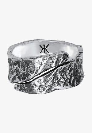 STRUKTUR USED LOOK - Ring - schwarz
