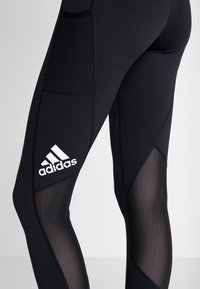 adidas Performance - ASK LONG - Leggings - black/white - 4