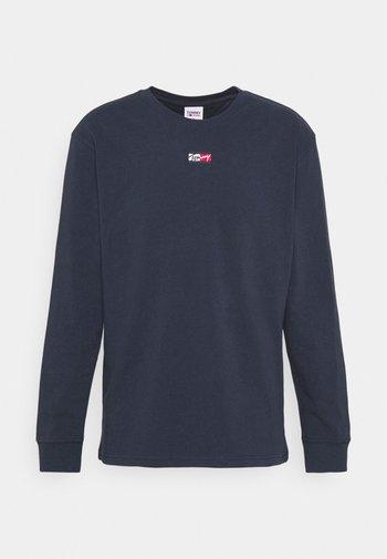 TINY SCRIPT TEE - Långärmad tröja - twilight navy