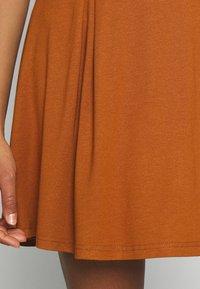 Even&Odd - A-line skirt - brown - 4