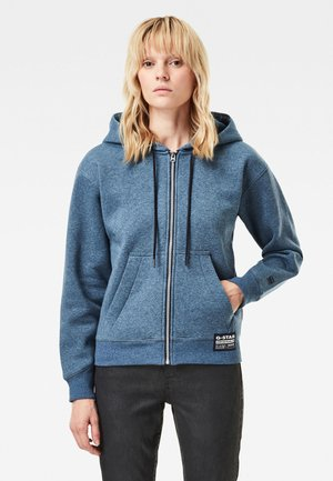 PREMIUM CORE HOODED ZIP THROUGH - Zip-up hoodie - worn in kobalt htr