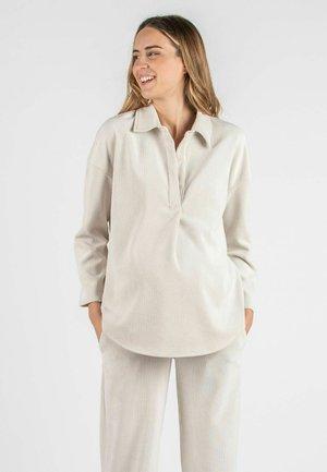 OLIVIA V - Long sleeved top - natural