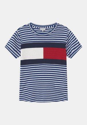 STRIPE   - Print T-shirt - regal navy/white