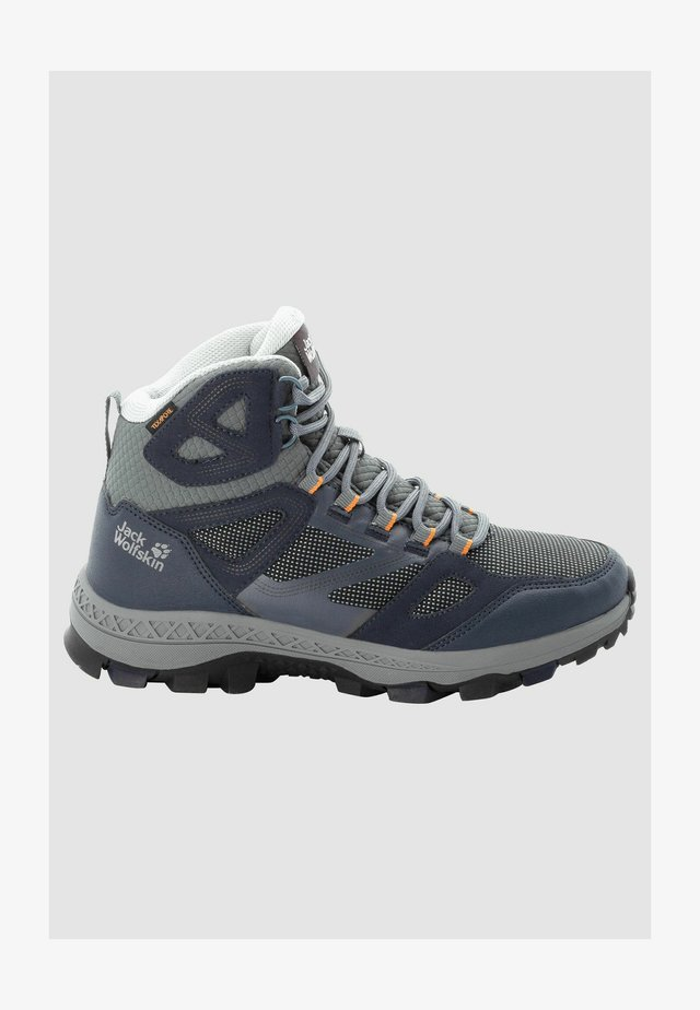 DOWNHILL TEXAPORE - Hiking shoes - dark blue / grey