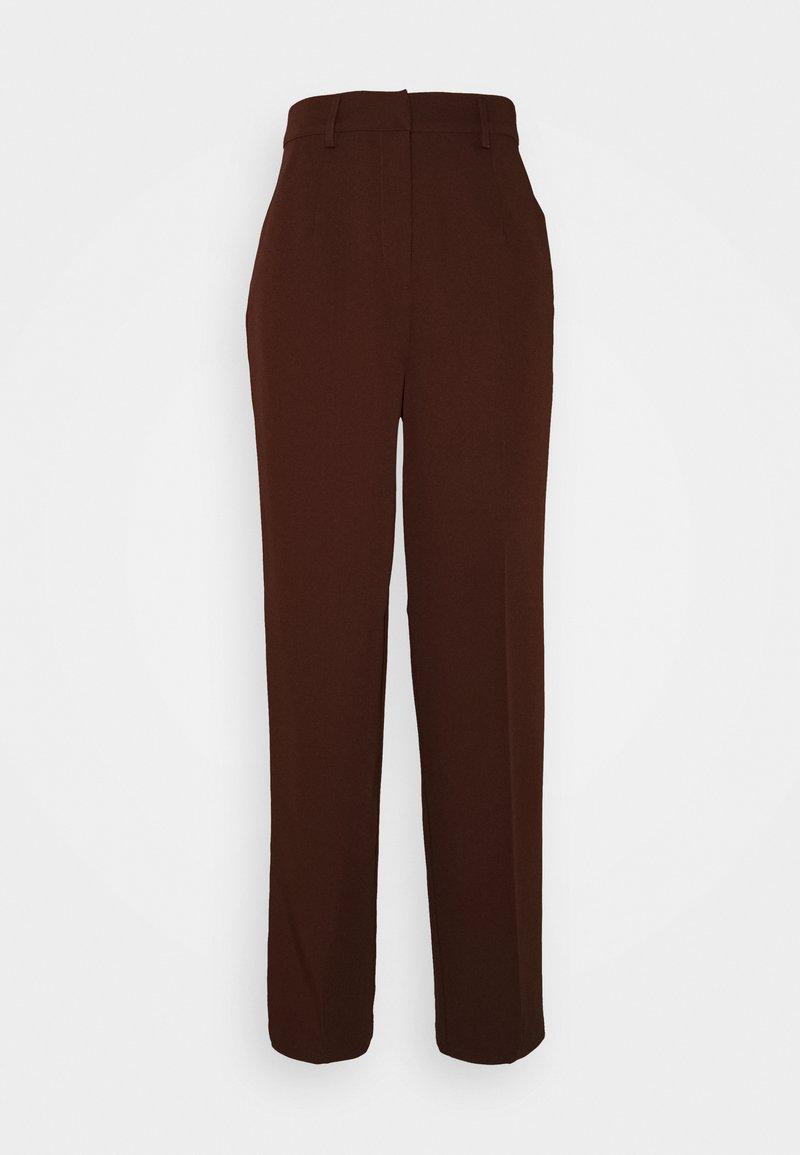 Vero Moda Tall - VMNEDA WIDE PANTS - Trousers - potting soil