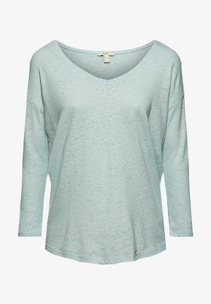Long sleeved top - light aqua green