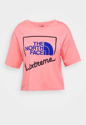 EXTREME CROP TEE - T-shirts med print - miami pink