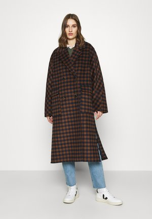 SLFELEMENT CHECK COAT  - Zimní kabát - maritime blue/daschund check