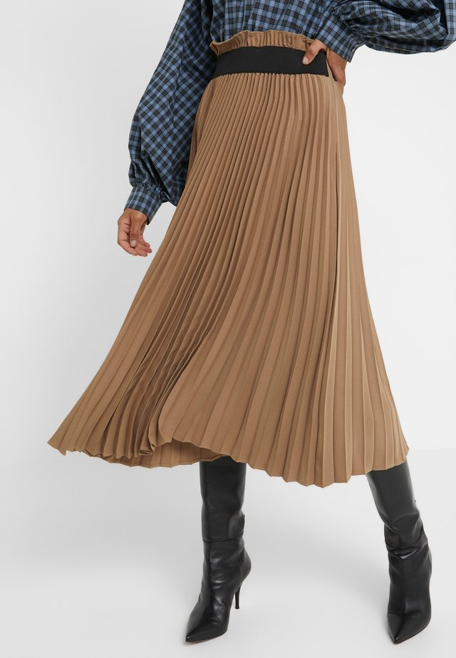 BENTE SKIRT - Gonna a campana - camel