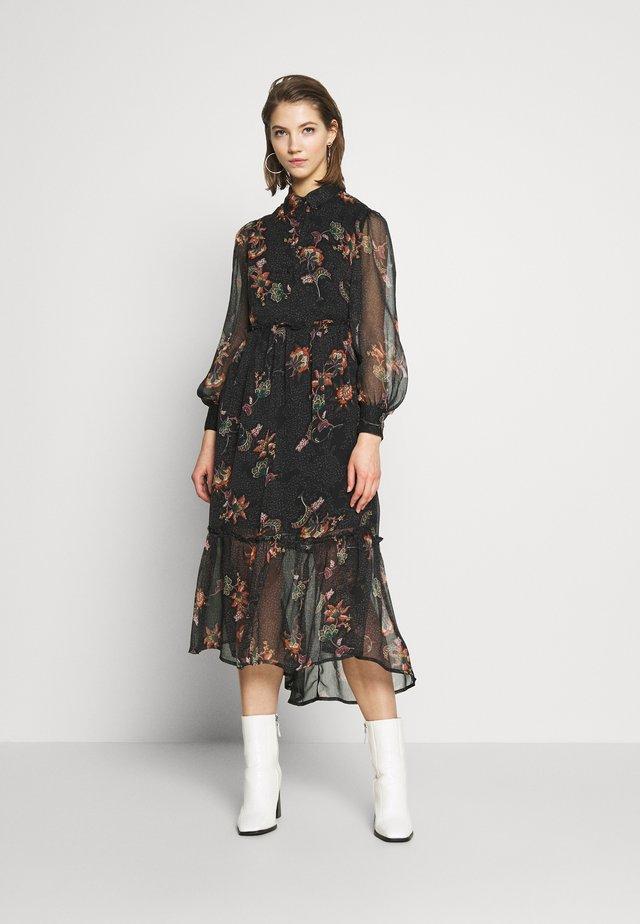 OBJLAKE LONG DRESS - Maxi dress - black