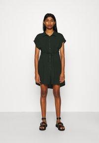 Even&Odd - Vestido camisero - dark green - 0