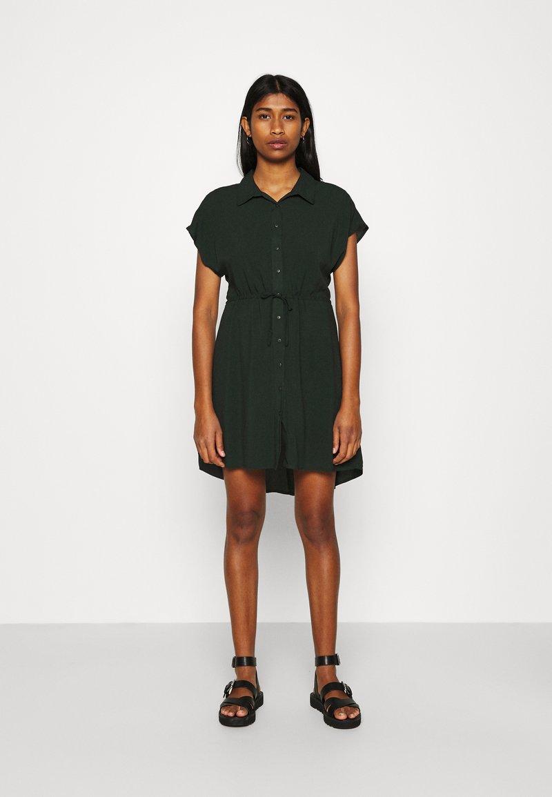 Even&Odd - Vestido camisero - dark green