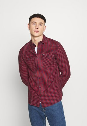 GINGHAM WESTERN - Shirt - deep crimson