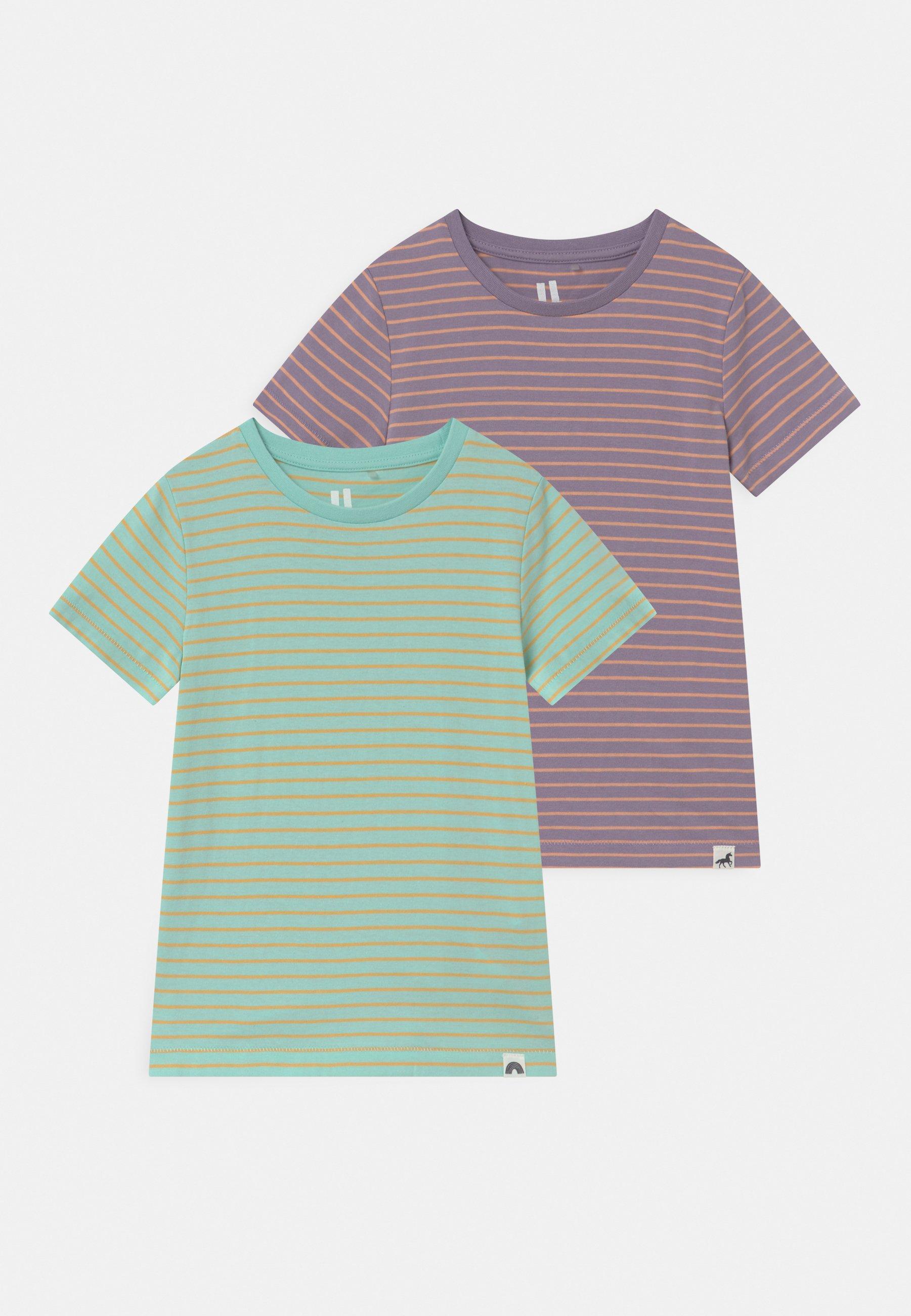 Kids CORE 2 PACK - Print T-shirt - mint breeze/smokey lilac