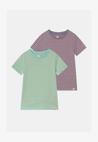 Cotton On - CORE 2 PACK - Triko spotiskem - mint breeze/smokey lilac - 0