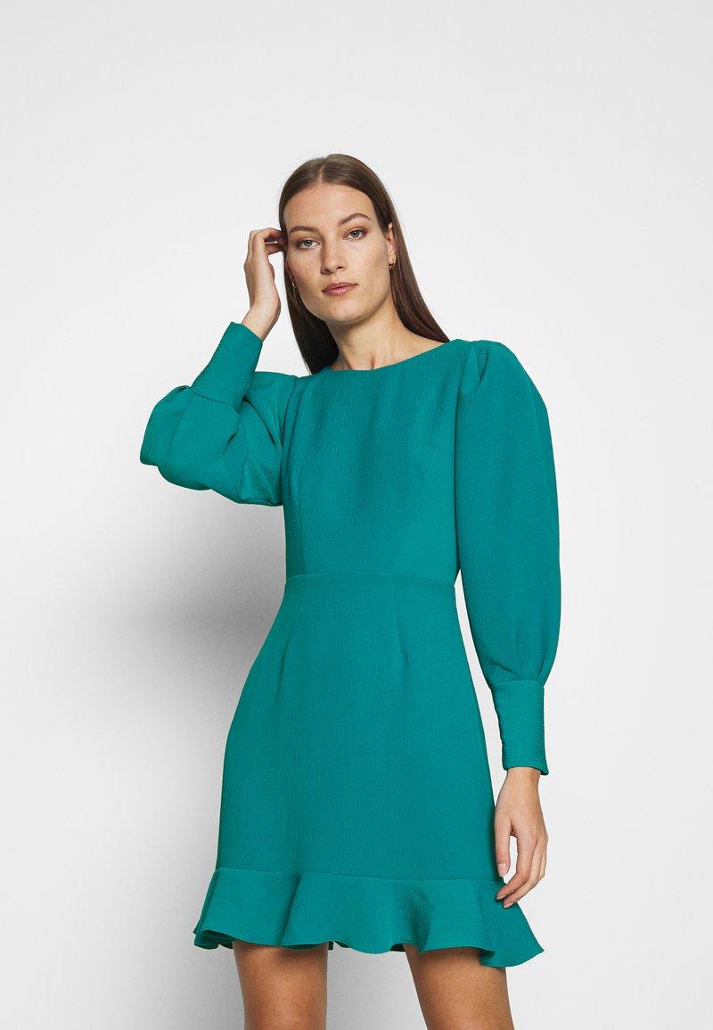 Closet - PEP HEM PENCIL DRESS - Shift dress - blue