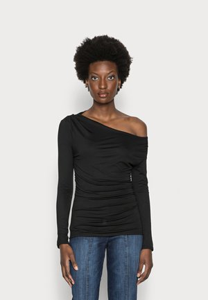 ISSA  - Long sleeved top - jet black