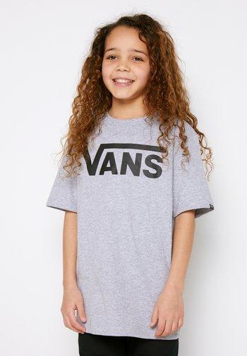 BY VANS CLASSIC BOYS - Print T-shirt - athletic heather/black