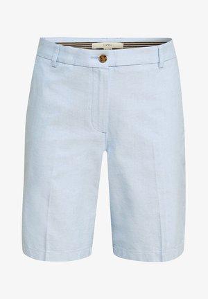 CHAMBRAY-SHORTS AUS 100% BAUMWOLLE - Short - light blue