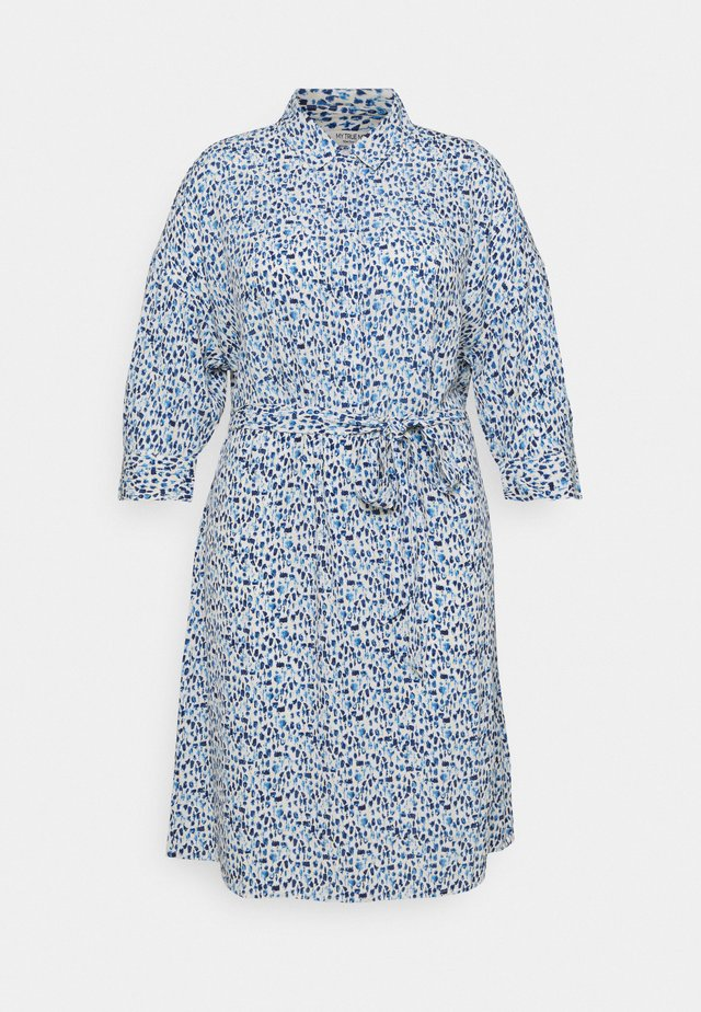 SHIRT DRESS WITH BELT - Shirt dress - blue aquarelle