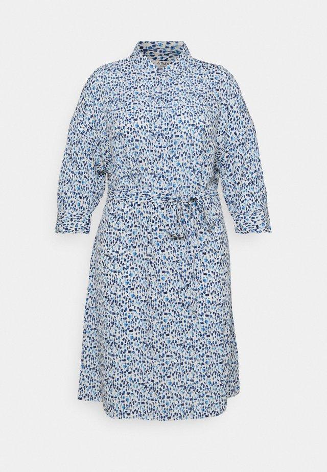 SHIRT DRESS WITH BELT - Vestido camisero - blue aquarelle