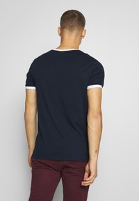 CLOSURE London - SIGNATURE RINGER TEE 3Pack - Basic T-shirt - greymarl/port/navy - 3