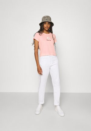 T-shirts med print - blue dusty/pink dusty/white solid