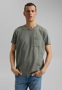 Esprit - Basic T-shirt - light khaki - 5