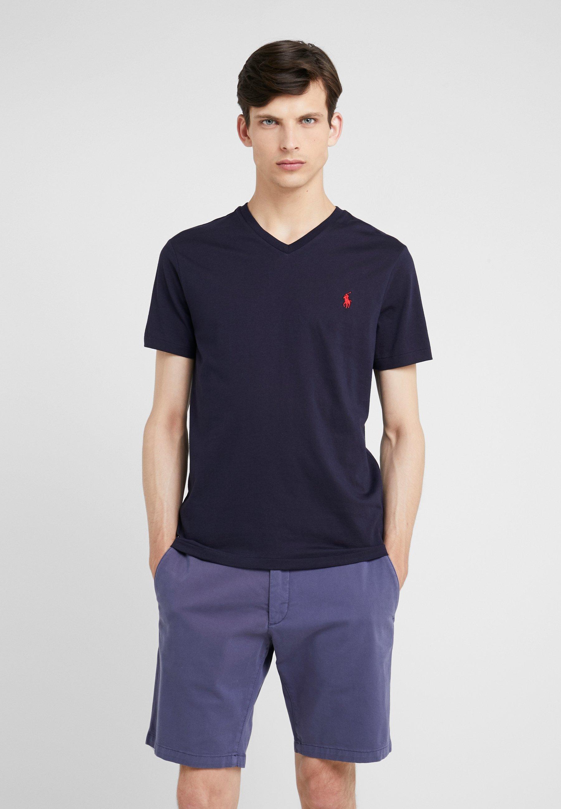 Homme CUSTOM SLIM FIT JERSEY V-NECK T-SHIRT - T-shirt basique