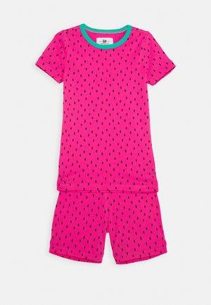 SLEEP - Pyjama set - fuchsia/black