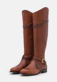 Alberta Ferretti - RIDING - Kovbojské/motorkářské boty - brown - 2