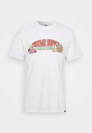 TROPICAL SUMMER TEE - T-shirt print - white