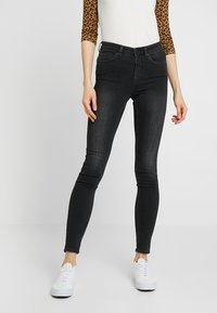 Monki - MOCKI - Džíny Slim Fit - washed black - 0