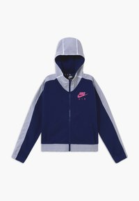 Nike Sportswear - Mikina na zip - blue void/white/fire pink - 0