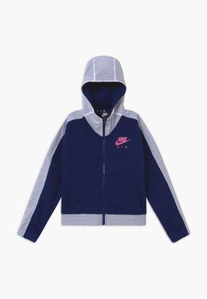 Felpa aperta - blue void/white/fire pink