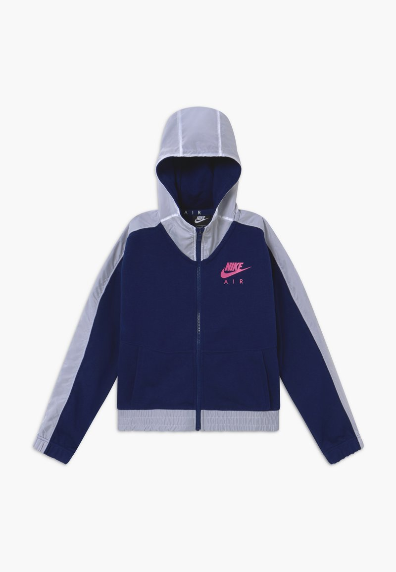 Nike Sportswear - Mikina na zip - blue void/white/fire pink