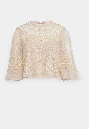ANAÏS SEQUIN TOP - Blusa - pearl rose/champage