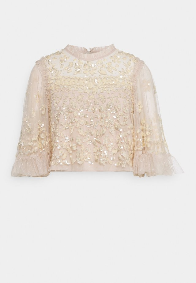 ANAÏS SEQUIN TOP - Blouse - pearl rose/champage