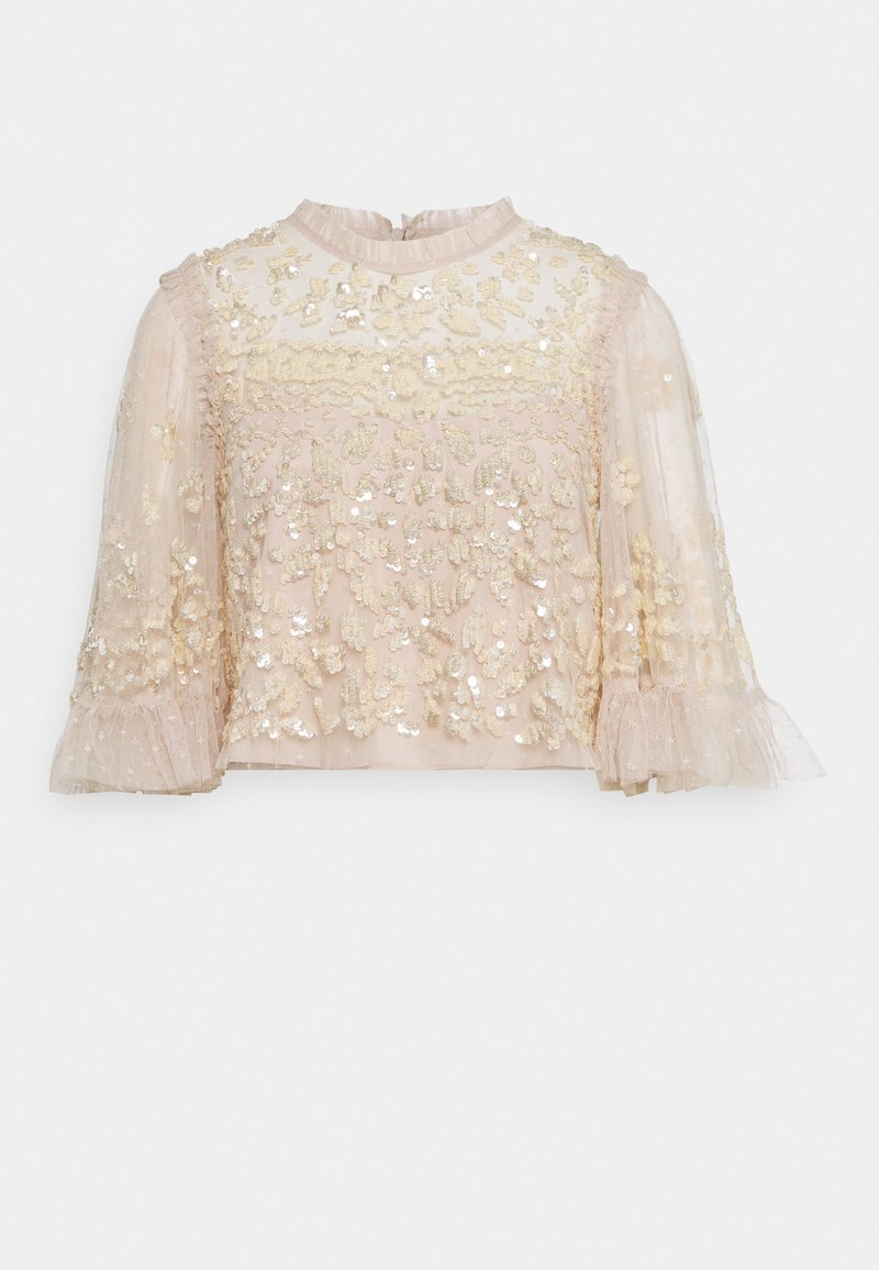 Needle & Thread - ANAÏS SEQUIN TOP - Blouse - pearl rose/champage