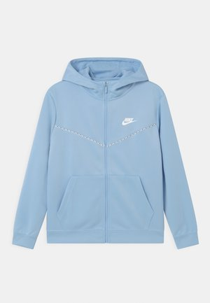 REPEAT HOODIE - Training jacket - psychic blue/white